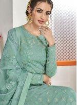 Firozi Embroidered Trendy Anarkali Salwar Kameez