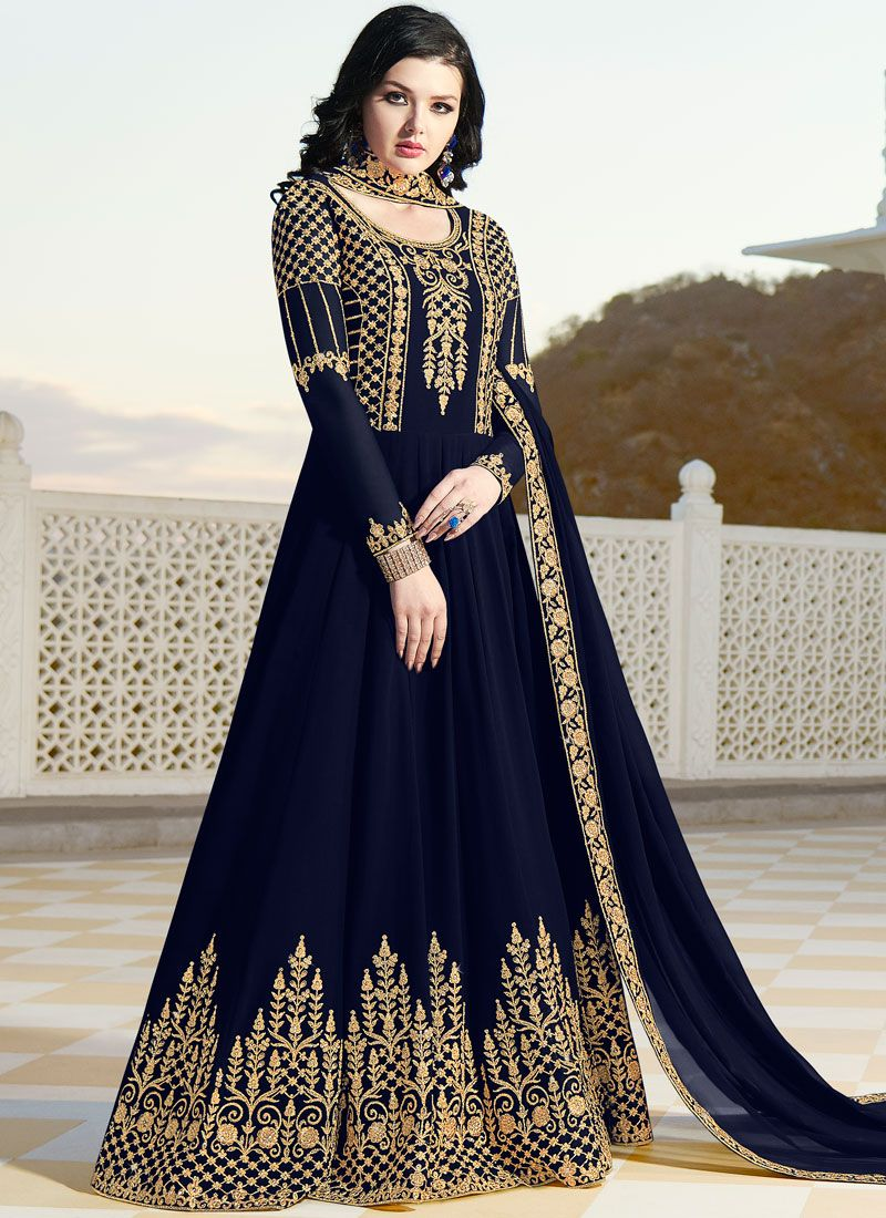 Floor Length Anarkali Suit For Party