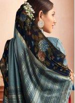 Floral Print Sangeet Classic Designer Saree