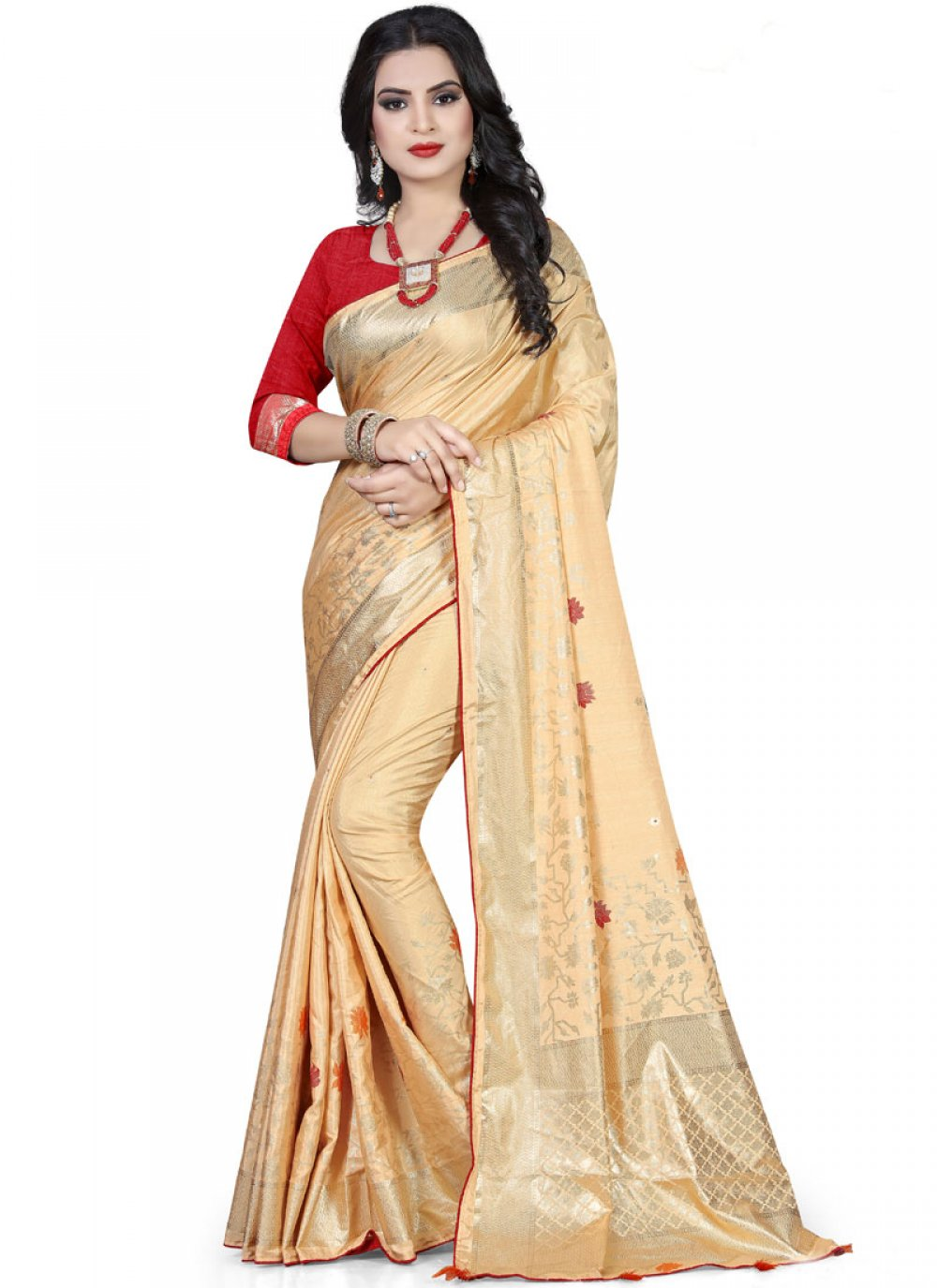 Foil print Art Silk Traditional Designer Saree