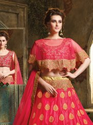 Fuchsia Art Silk Trendy Lehenga Choli
