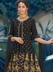 Georgette Black Palazzo Designer Salwar Kameez
