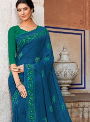Georgette Blue Casual Saree