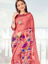Georgette Casual Saree in Pink