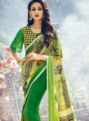 Georgette Classic Designer Saree in Green