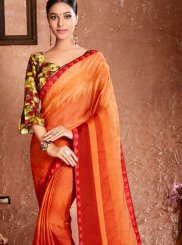 Georgette Classic Designer Saree in Orange