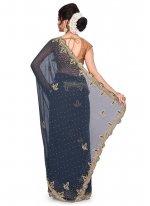 Georgette Embroidered Designer Traditional Saree