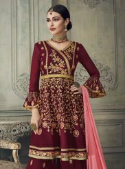 Georgette Embroidered Palazzo Designer Salwar Suit