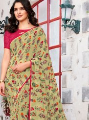 Georgette Green Trendy Saree