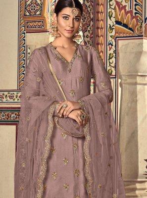 Georgette Lavender Palazzo Designer Salwar Kameez