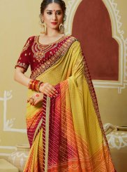 Georgette Multi Colour Printed Saree