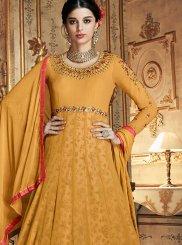 Georgette Orange Embroidered Designer Lehenga Choli