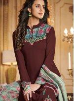 Georgette Palazzo Designer Salwar Suit