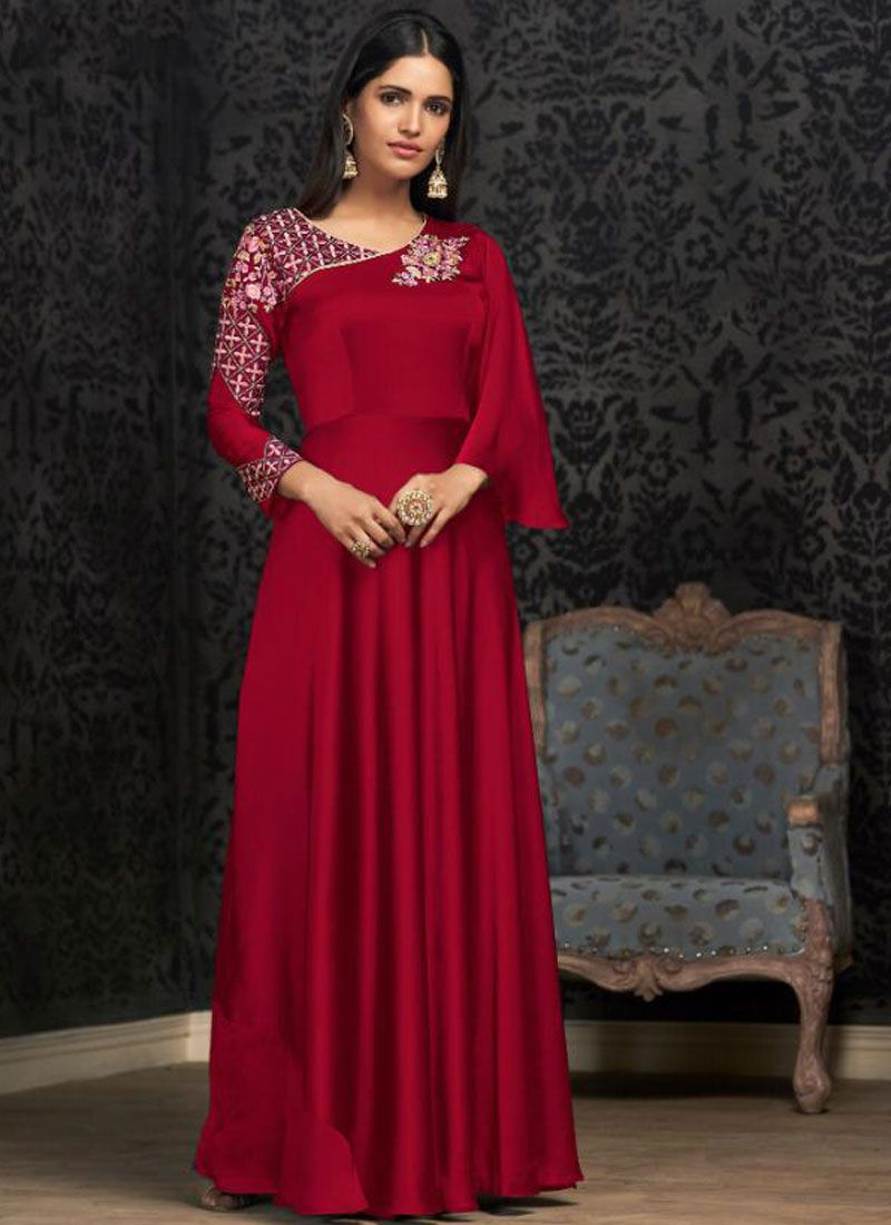 Georgette Party Designer Gown