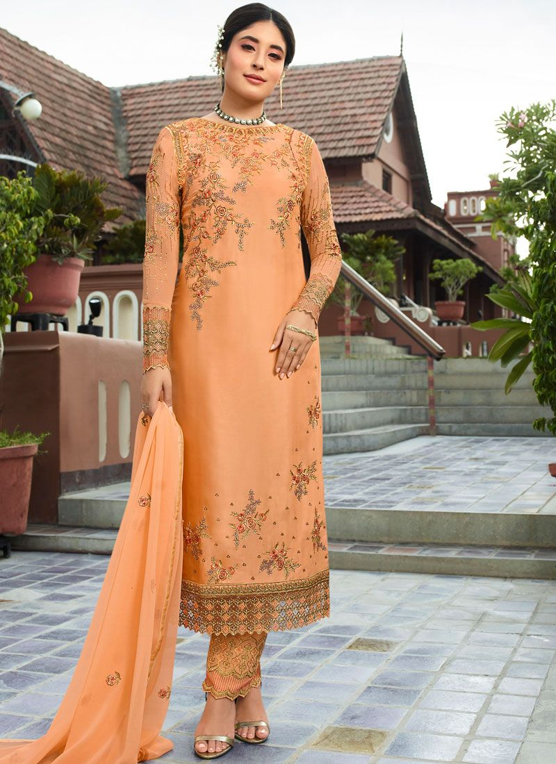 Georgette Party Pant Style Suit