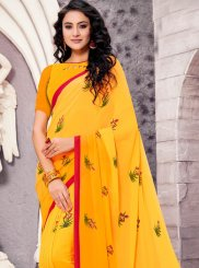Georgette Printed Casual Saree