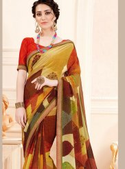 Georgette Printed Multi Colour Trendy Saree