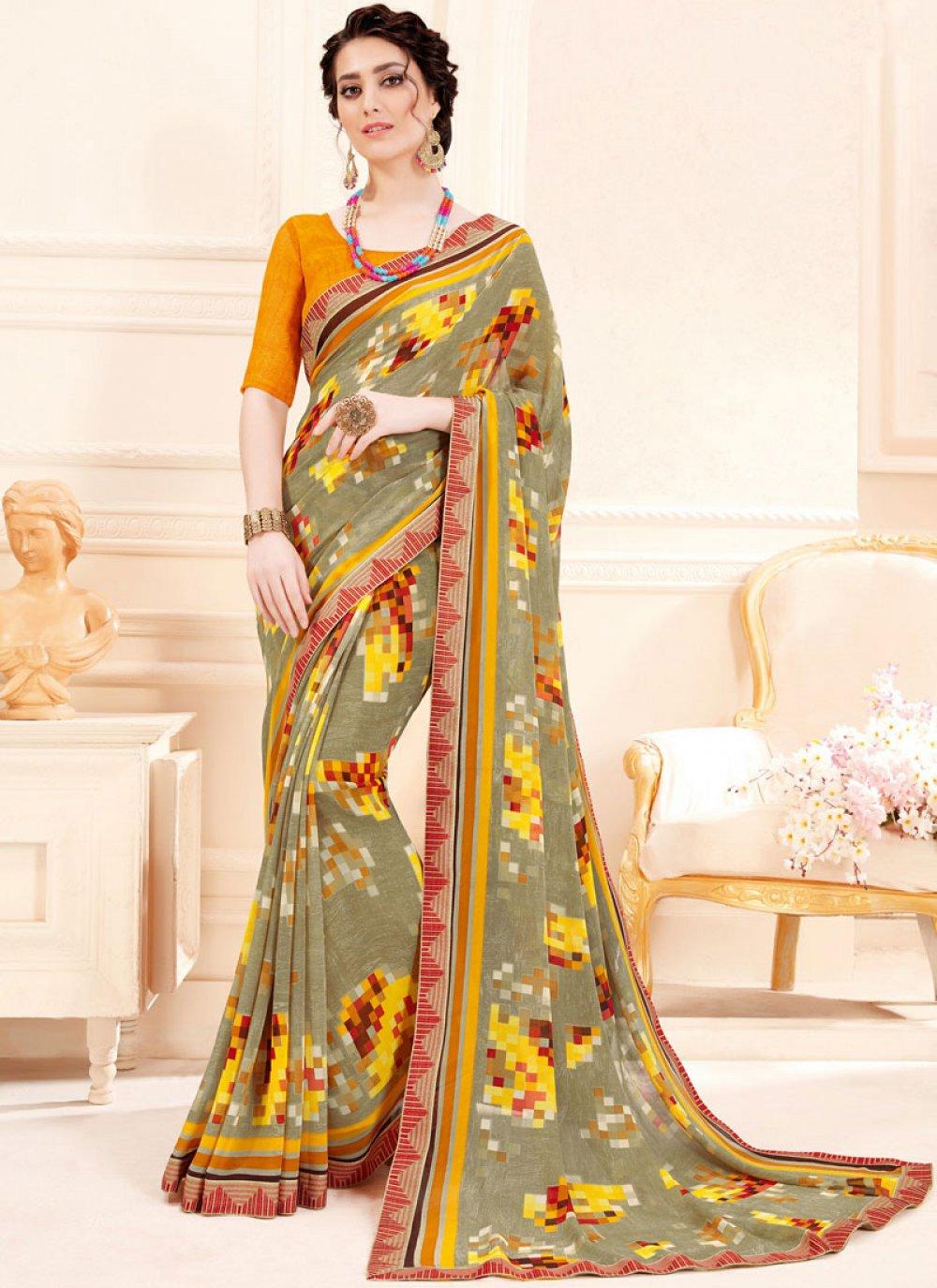 Georgette Printed Trendy Saree