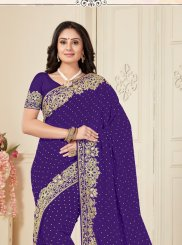 Georgette Resham Designer Traditional Saree