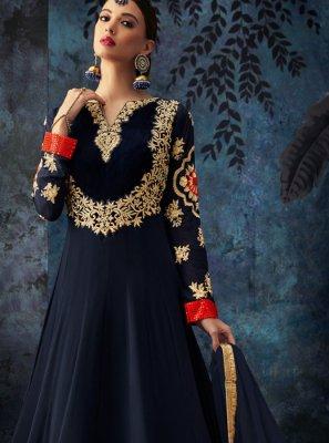 Georgette Sangeet Anarkali Salwar Suit
