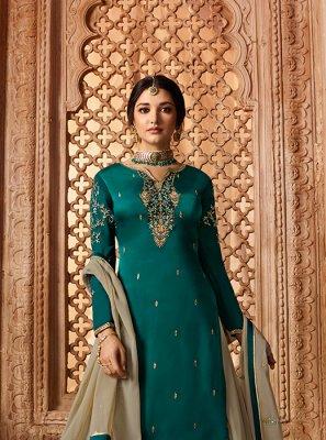 Georgette Satin Designer Pakistani Suit
