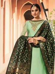 Georgette Satin Designer Straight Suit