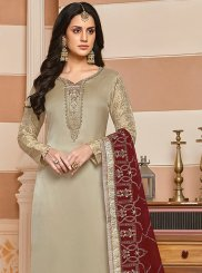 Georgette Satin Designer Suit