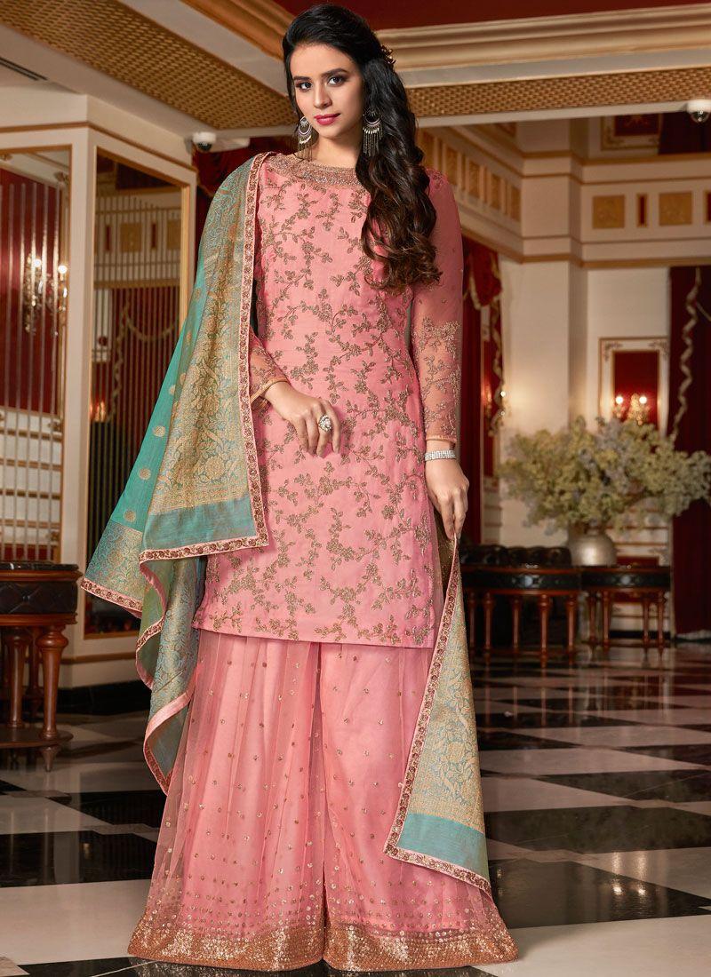 Georgette Satin Festival Designer Pakistani Suit