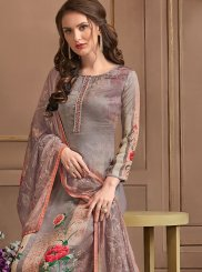 Georgette Satin Multi Colour Pant Style Suit