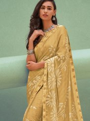 Georgette Silk Saree in Yellow