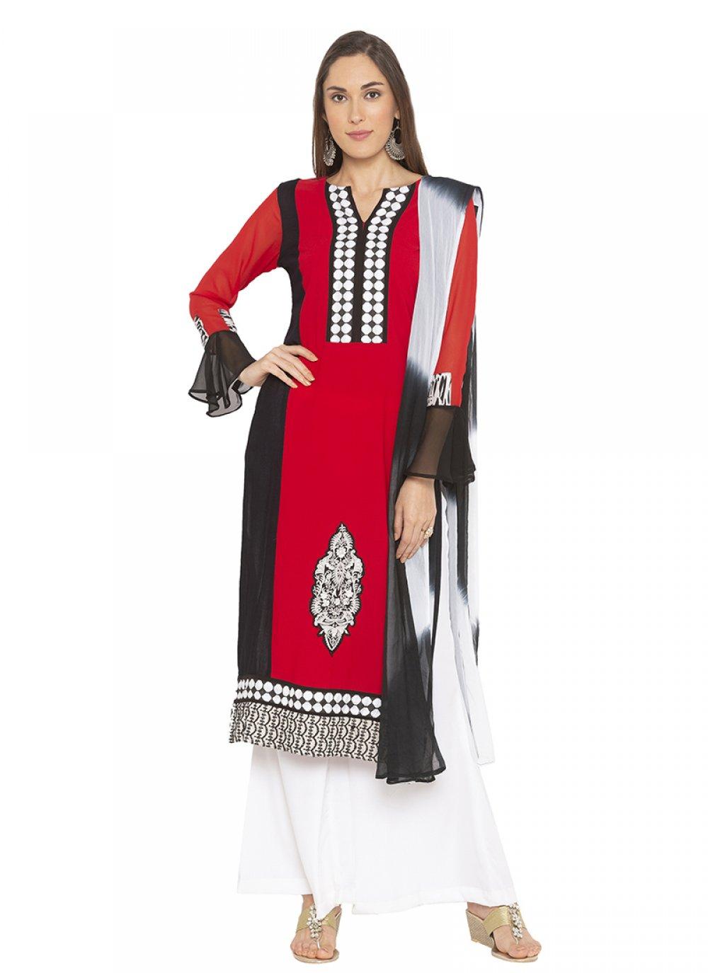 Georgette Wedding Designer Salwar Kameez