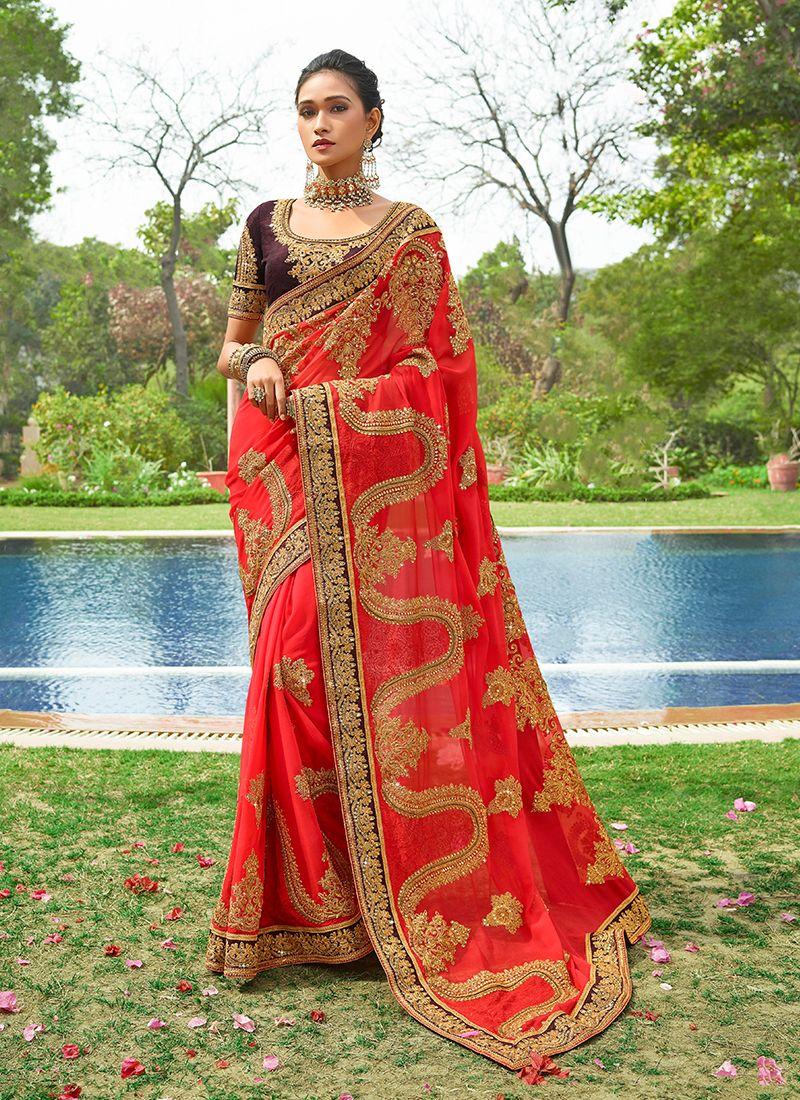 Georgette Wedding Designer Saree