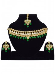 Gold and Green Necklace Set