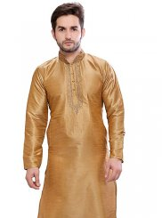 Gold Art Dupion Silk Ceremonial Kurta Pyjama