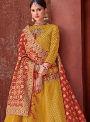 Gold Butta Wedding Designer Lehenga Choli