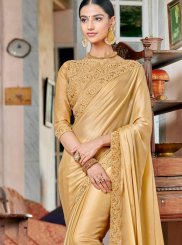 Gold Ceremonial Rangoli Designer Saree