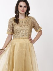 Gold Color Designer Gown