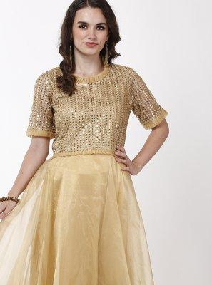 Gold Color Designer Gown