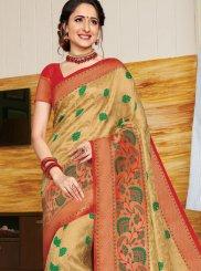 Gold Color Designer Traditional Saree