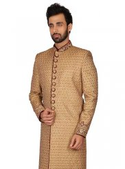 Gold Embroidered Ceremonial Kurta Pyjama