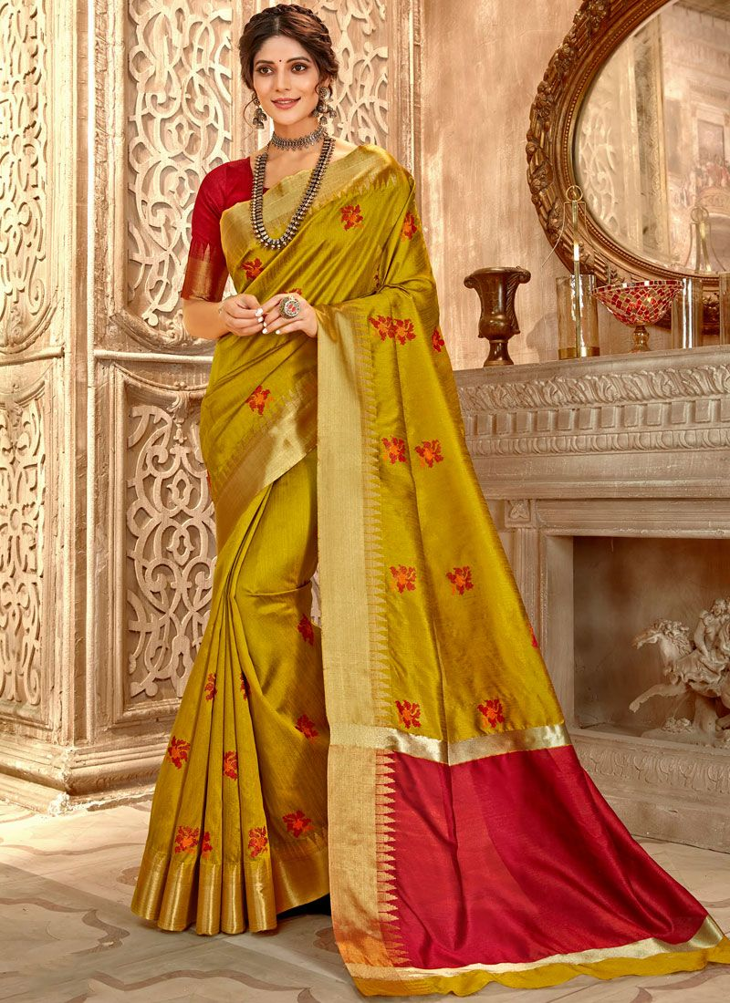 Gold Embroidered Classic Saree