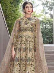 Gold Embroidered Sangeet Anarkali Salwar Kameez