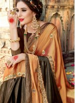 Gold Fancy Fabric Classic Designer Saree