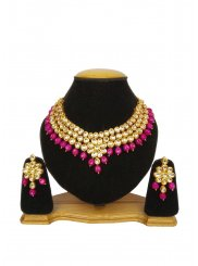 Gold Kundan Ceremonial Necklace Set