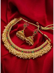 Gold Kundan Mehndi Necklace Set