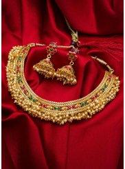 Gold Kundan Wedding Necklace Set