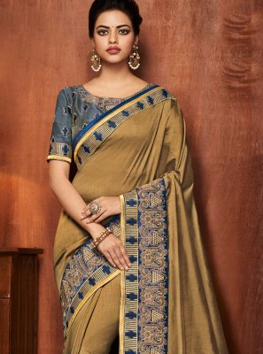 Gold Party Traditional Saree