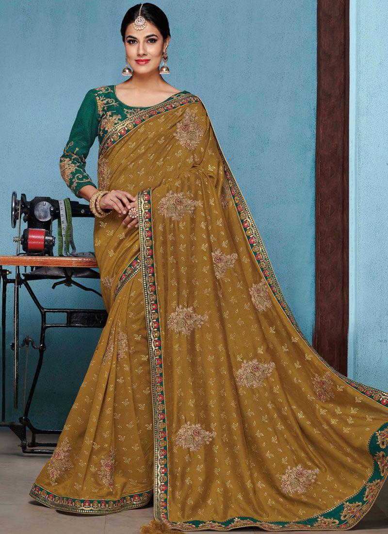 Gold Patch Border Designer Traditional Saree