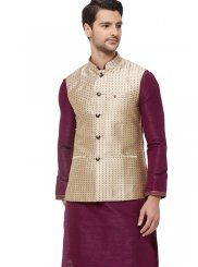 Gold Printed Nehru Jackets