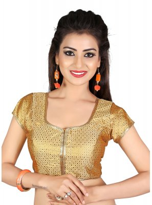Gold Satin Designer Blouse